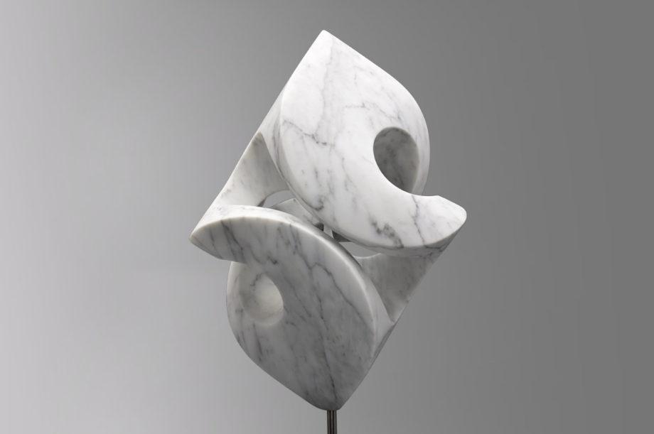 Rob Zweerman, Swirlles Marble Yarn, beeldhouwen, Eindhoven, lessen, Ruimte in Beeld,, sculpture