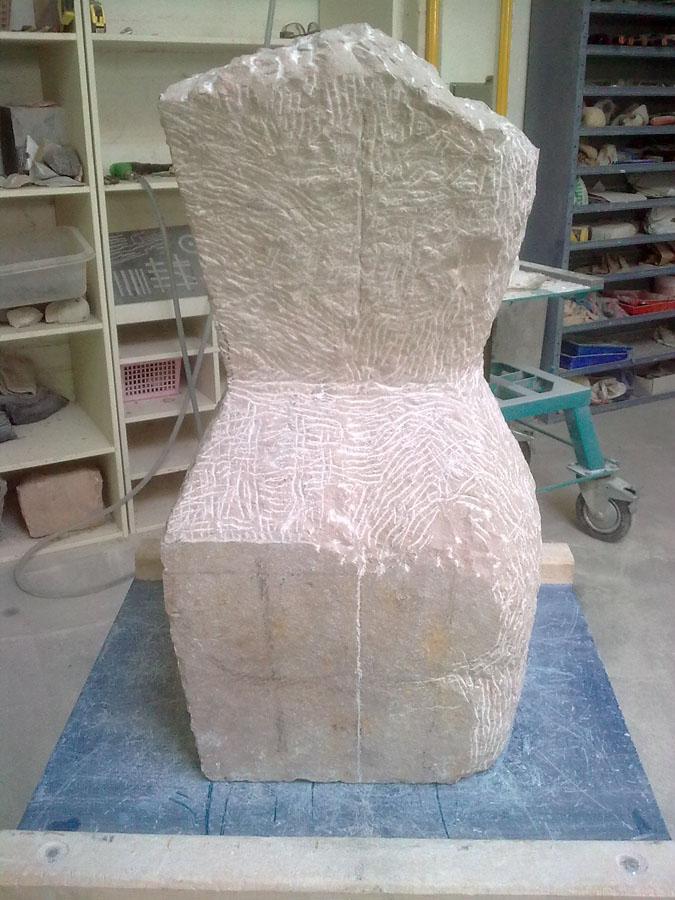 Wachten, Waiting - Rob Zweerman, beeldhouwen, Eindhoven, lessen, Ruimte in Beeld, sculpture, proces