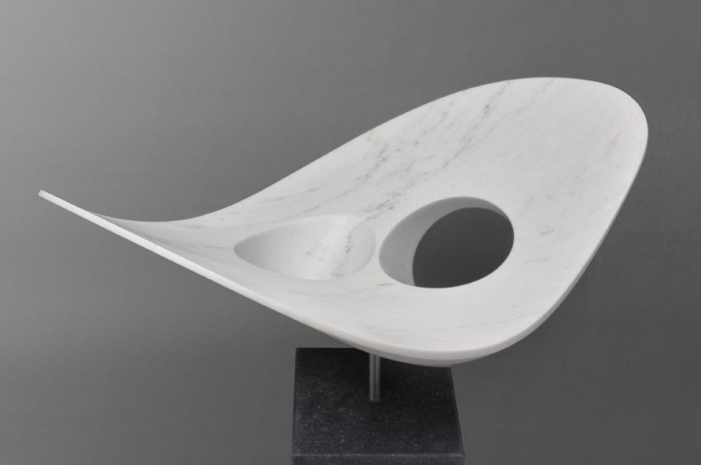 Rob Zweerman, Curva, beeldhouwen, Eindhoven, 2019, Statuario Marmer